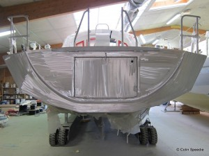 A Boreal-44 taking shape in the factory